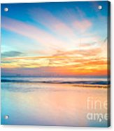 Seascape Sunset Acrylic Print by Adrian Evans