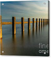 Seascape Wales Acrylic Print by Adrian Evans
