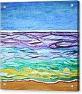Seashore Blue Sky Acrylic Print