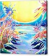 Seashore In The Moonlight Acrylic Print