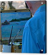 Seaside Artist Acrylic Print