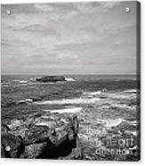 Seaside Bluff Bw Acrylic Print