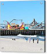 Seaside Casino Pier Acrylic Print