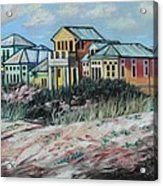 Seaside Cottages Acrylic Print by Eve  Wheeler