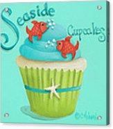 Seaside Cupcakes Acrylic Print by Catherine Holman
