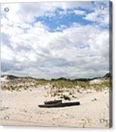Seaside Driftwood And Dunes Acrylic Print