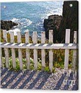 Seaside Fence Acrylic Print