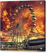 Seaside Ferris Wheel Acrylic Print by Kim Zier
