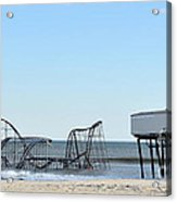 Seaside Heights Jetstar Acrylic Print