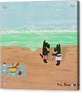 Seaside Scotties Acrylic Print