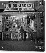 Seaside Union Jacks Acrylic Print by David Riccardi