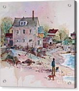 Seaside Village Acrylic Print by Sherri Crabtree