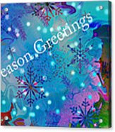 Season Greetings - Snowflakes Acrylic Print