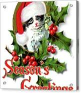 Seasons Greetings - Kitten Acrylic Print
