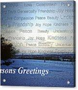 Seasons Greetings Wishes Acrylic Print