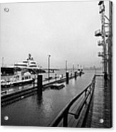 seaspan marine tugboat dock city of north Vancouver BC Canada Acrylic Print by Joe Fox