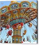 Seaswings At Santa Cruz Beach Boardwalk California 5d23897 Acrylic Print by Wingsdomain Art and Photography