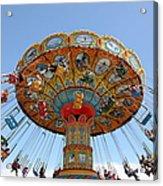 Seaswings At Santa Cruz Beach Boardwalk California 5d23901 Acrylic Print by Wingsdomain Art and Photography