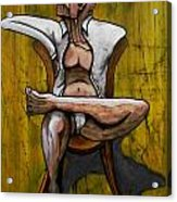 Seated Figure With A Monocle Acrylic Print