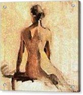 Seated Nude Acrylic Print