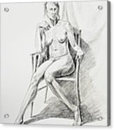 Seated Nude Model Study Acrylic Print