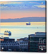 Seattle And Elliott Bay Acrylic Print