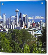 Seattle And Mt. Rainier Acrylic Print