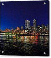 Seattle City Skyline Romance Panorama Acrylic Print