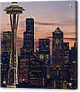 Seattle Cityscape Morning Light Acrylic Print