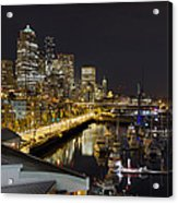 Seattle Downtown Skyline Waterfront Marina Acrylic Print