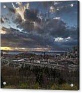 Seattle Dramatic Dusk Acrylic Print