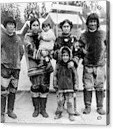 Seattle Eskimo Family Acrylic Print