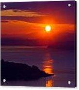 Seattle Fiery Sunset Acrylic Print