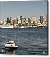 Seattle From Alki Beach Acrylic Print
