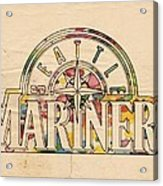 Seattle Mariners Poster Art Acrylic Print