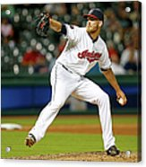 Seattle Mariners V Cleveland Indians Acrylic Print