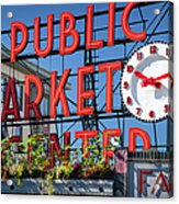 Seattle Market  Acrylic Print