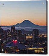 Seattle Morning Glow Acrylic Print