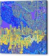 Seattle Skyline Abstract 6 Acrylic Print