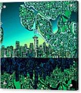 Seattle Skyline Abstract Acrylic Print