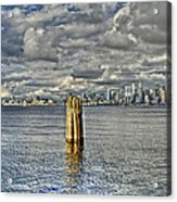 Seattle Skyline And Cityscape Acrylic Print