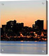 Seattle Skyline And Puget Sound At Sunrise Acrylic Print