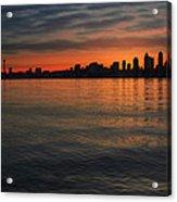 Seattle Skyline At Dawn Acrylic Print