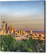 Seattle Skyline Lens Baby Hdr Acrylic Print