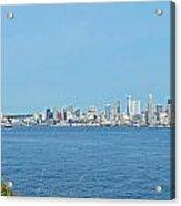 Seattle Skyline Panorama Acrylic Print