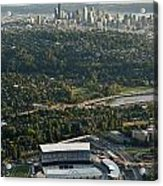 Seattle Skyline With Aerial View Of The Newly Renovated Husky St Acrylic Print