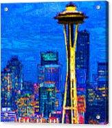Seattle Space Needle 20130115v1 Acrylic Print