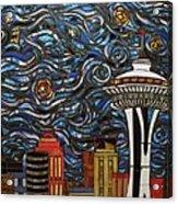 Seattle Starry Night Acrylic Print