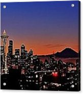 Seattle Sunrise Panorama Acrylic Print