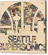 Seattle Supersonics Poster Vintage Acrylic Print